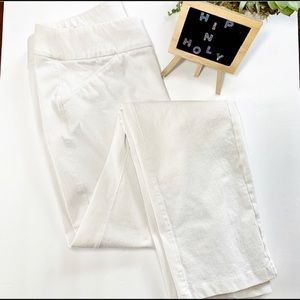 CHICO'S  TRAVELERS ANKLE STRETCH PANT WHITE SIZE 0